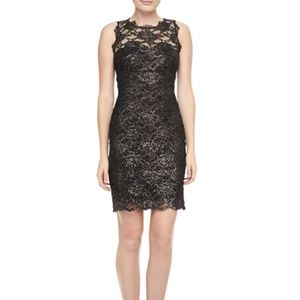NWT Nicole Miller Size 2 Foil Lace Cocktail Dress